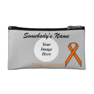 Orange Standardband-Schablone Makeup-Tasche
