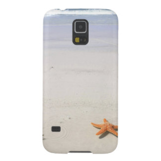 Orange Starfish auf einem weißen sandigen Strand Samsung Galaxy S5 Hülle