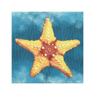 Orange Starfish Leinwanddruck
