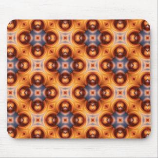 Orange Steigungs-Retro Mosaik-Muster Mousepad