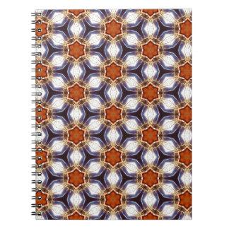 Orange Stern-Blumen-Muster-Notizbuch Notizblock