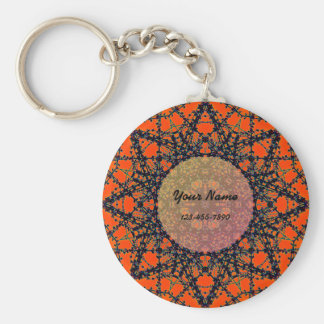 Orange Sterne Schlüsselanhänger