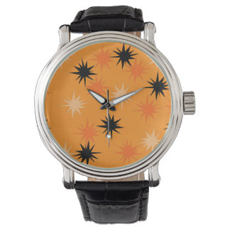 Orange Sternexplosion-Leder-atomaruhr Armbanduhr