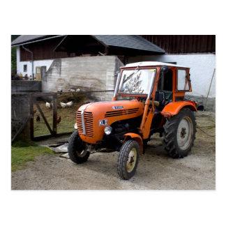 Orange Steyr Traktor Kiloliter II Postkarte