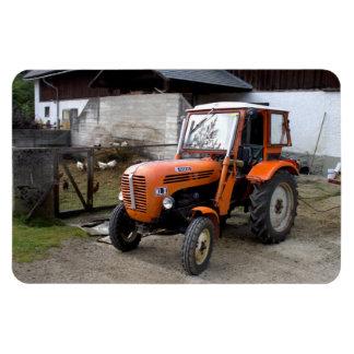 Orange Steyr Traktor Kiloliter II Recchteckiger Magnet