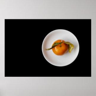 Orange Stillleben Poster
