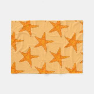 Orange Strand-Ozeanstarfish-Stern-Fisch-Decke Fleecedecke