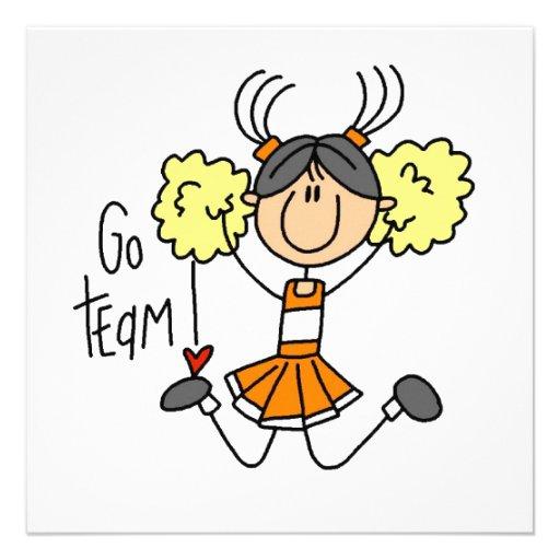 Orange Strichmännchen Cheerleader T Shirts und Ges ... Orange Cartoon Images