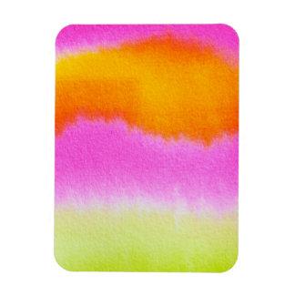 ORANGE STRIPES DES HEISSEN ROSA-watercolor-386191 Magnet