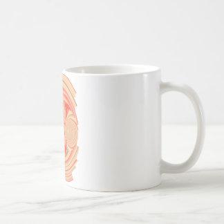 Orange Strudelentwurf Kaffeetasse