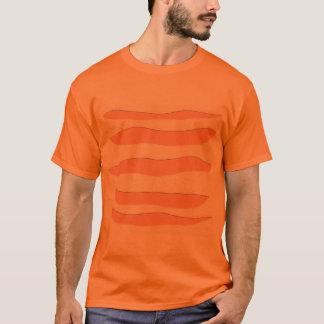 Orange T - Shirt mit Tiger-Streifen