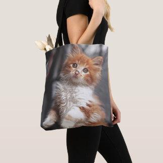 Orange Tabby-Kätzchen Tasche