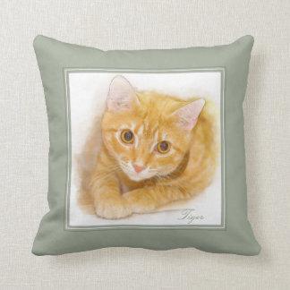 Orange Tabby-Katzen-Malerei Kissen