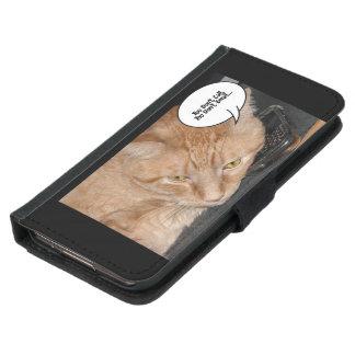 Orange Tabby-Spaß Samsung Galaxy S5 Geldbeutel Hülle