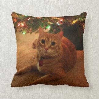 Orange Tabby-Weihnachtskissen Kissen