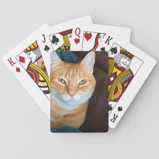 Orange Tabbykatze Spielkarten