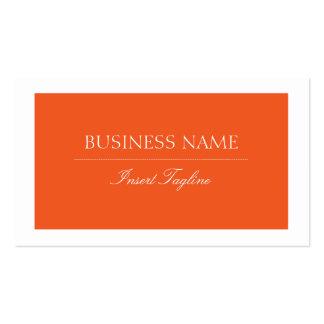 Orange Tagline Visitenkarten