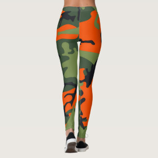 Orange Tarnungs-Gamaschen Leggings