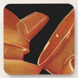 Orange Tee-Set-Untersetzer (Lori Corbett) Untersetzer