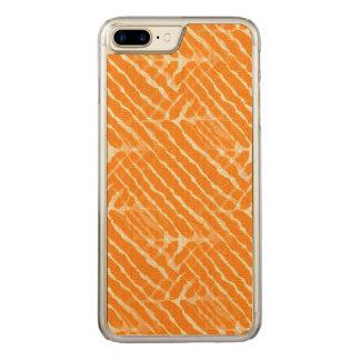 Orange Tiger-Streifen-Leinwand-Blick Carved iPhone 8 Plus/7 Plus Hülle