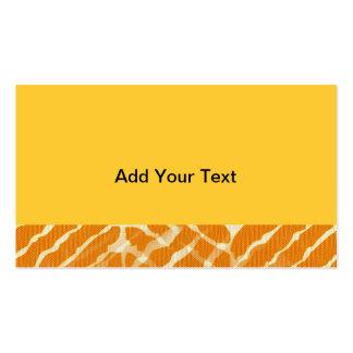 Orange Tiger-Streifen-Leinwand-Blick Visitenkarten