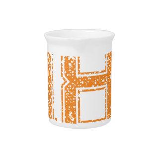Orange trägt Jerzee Zahl 18.png zur Schau Getränke Pitcher
