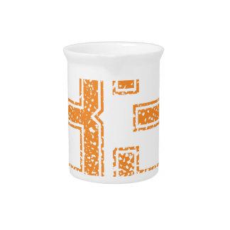 Orange trägt Jerzee Zahl 33.png zur Schau Getränke Pitcher