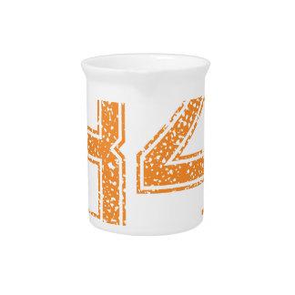 Orange trägt Jerzee Zahl 34.png zur Schau Getränke Pitcher