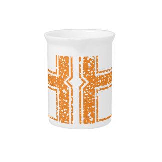 Orange trägt Jerzee Zahl 38.png zur Schau Getränke Pitcher