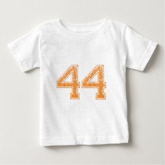 Orange trägt Jerzee Zahl 44.png zur Schau Baby T-shirt