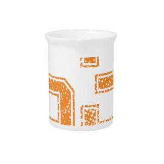 Orange trägt Jerzee Zahl 53.png zur Schau Getränke Pitcher
