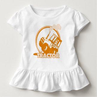 Orange Traktor-landwirtschaftliche Maschinen Kleinkind T-shirt