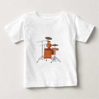 Orange Trommel-Ausrüstung: Baby T-shirt
