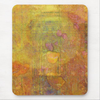 Orange Tulpen abstrakt Mauspad