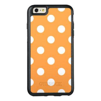 Orange Tupfen-Muster OtterBox iPhone 6/6s Plus Hülle