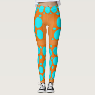 Orange u. Aqua Leggings