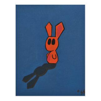 Orange u. blaues Häschen Postkarten