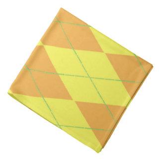 Orange u. gelbe Raute Kopftuch