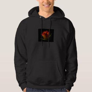 Orange u. gelbe Rosen-mit Kapuze Sweatshirt