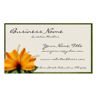 Orange u. grüne Blumen-Geschäfts-Karten Visitenkarten Vorlage