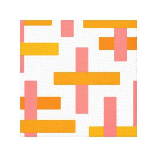 Orange u. rosa abstraktes leinwanddruck