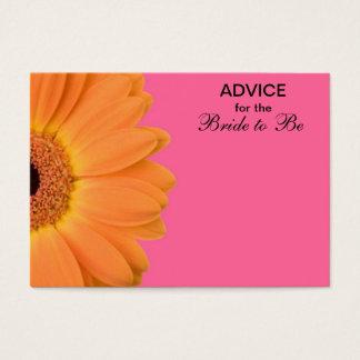 Orange u. rosa Gerber Gänseblümchen-Rat für die Visitenkarte