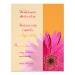 Orange u. rosa personalisierte ankündigungskarten