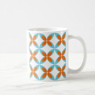 Orange und Blau Kaffeetasse