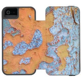 Orange und blaue Baumrinde Incipio Watson™ iPhone 5 Geldbörsen Hülle