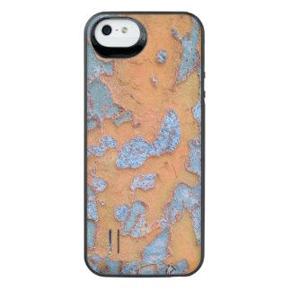 Orange und blaue Baumrinde iPhone SE/5/5s Batterie Hülle