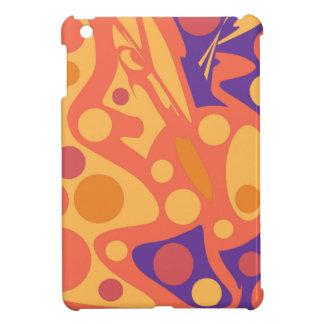 Orange und blauer Dekor Hüllen Für iPad Mini
