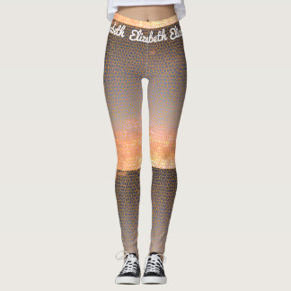 Orange und blaues leggings