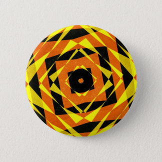 Orange und gelbes gestreiftes Diamantmuster Runder Button 5,1 Cm