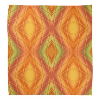 Orange und grünes abstraktes Muster Halstuch